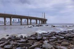 View of Mumbai Worli Sealink from Bandra Bandstand royalty free stock images