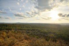 View from Mundoji volcanic cone Royalty Free Stock Photos