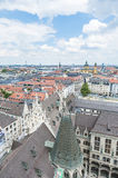 View of Munich as seen from the Neues Rathaus tower. Royalty Free Stock Photo