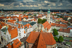 View of Munich city center Royalty Free Stock Images