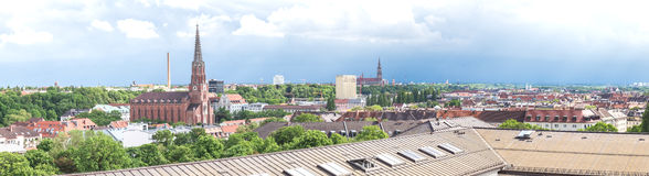 View of Munich from the Deutsches Museum. Royalty Free Stock Photo