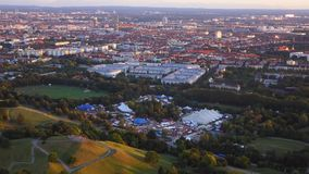 View of Munich, Olimpiapark stock footage