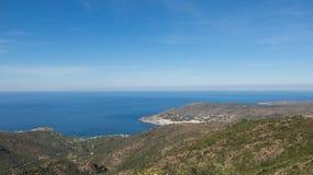 View of the municipality of El Port de la Selva, Emporda, Catalo. View of the municipality of El Port de la Selva, in the National Park of Cap de Creus, at the Stock Photography