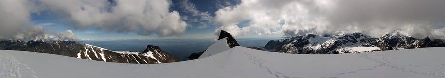 View from Munkan, Lofoten islands, Norway royalty free stock photography