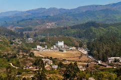 View of  Munnar from tea plantation valley Stock Image