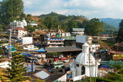 View of Munnar town Stock Image