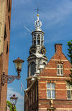 View of Munttoren, a tower in Amsterdam Stock Photo