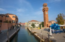 View of Murano island, a small island inside Venice Venezia area, famous for its glass production., Italy. royalty free stock photo