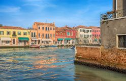 View of Murano island, a small island inside Venice Venezia area, famous for its glass production., Italy royalty free stock photography