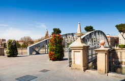 View of Murcia. Bridge over Segura river called Puente Nuevo Royalty Free Stock Photos