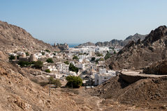 View of Muscat from the hills Stock Photos