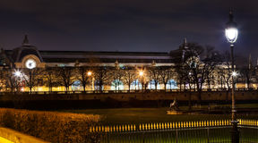 Musee d Orsay in Paris at night Stock Image