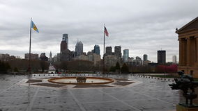 View from the Museum of Art in Philadelphia stock footage