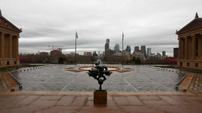 View from the Museum of Art in Philadelphia, Pennsylvania stock video footage