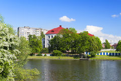 View of the Museum, former Stadthalle, from the Bottom of the lake Stock Photography