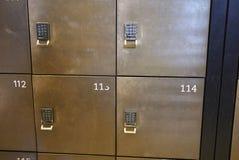 View of Museum lockers stock photo