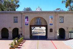 View of Museum of Man in Balboa Park in San Diego, California Royalty Free Stock Photos