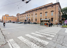 View of Museum Palace from square Largo Porta Sant'Agostino Stock Images