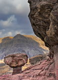 View on mushroom stone, Timna park, Israel Stock Image