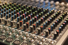 View of music control panel Royalty Free Stock Photography