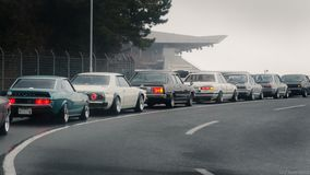 The view from my car pulling into Fuji Speedway. stock photography