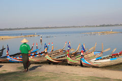 View of Myanmar Inle Lake Stock Photo