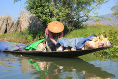 View of Myanmar Inle Lake Royalty Free Stock Photos