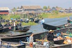 View of Myanmar Inle Lake Stock Image