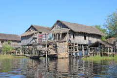 View of Myanmar Inle Lake Royalty Free Stock Photography