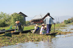 View of Myanmar Inle Lake Stock Photography