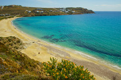 view of Mykonos beach Royalty Free Stock Images