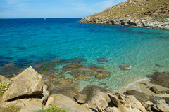 View of Mykonos beach Royalty Free Stock Photo