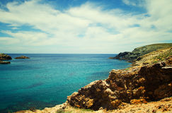 View of Mykonos beach Stock Images