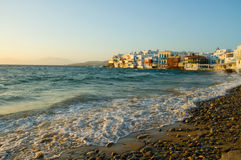 View of Mykonos city Stock Photography