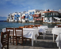 View from Mykonos, Greece Stock Photography