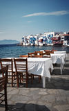 View from Mykonos, Greece Stock Images