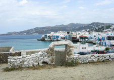 View of Mykonos, Greece. A view of the waterfront of Mykonos, Greece Stock Image