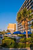 Myrtle beach south carolina. View of Myrtle Beach South Carolina in morning royalty free stock image