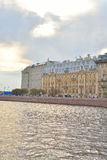 View of Mytninskaya quay on Petrograd side. Royalty Free Stock Photo