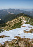 View from Nízke Tatry Low Tatras towards Mestská hora 1529 m, Slovakia Stock Images