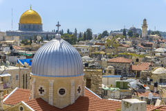 A view on n rooftops of Old City of Jerusalem Royalty Free Stock Photo