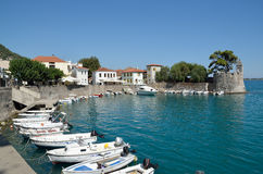 View of Nafpaktos port Royalty Free Stock Photography
