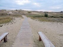 View of Nagliu dune, Lithuania Stock Image