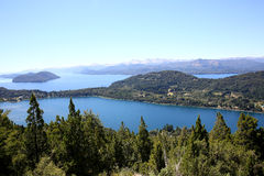 View of Nahuel Huapi lake in Argentina Royalty Free Stock Photos