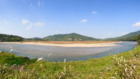 View of Nakdong river from Hahoe village Royalty Free Stock Photos