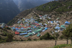 View of Namche Bazaar Royalty Free Stock Images