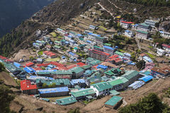 View of Namche Bazaar Royalty Free Stock Image