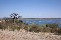 View on Namibia from Botswana Stock Photo