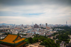View from Nanjing Yuejianglou Tower (River Watchtower) Royalty Free Stock Photography