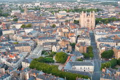 View of Nantes at a summer day Royalty Free Stock Photos